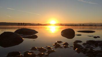 SUP Sonnenaufgang ab dem Camping Rausenbach (Maur)